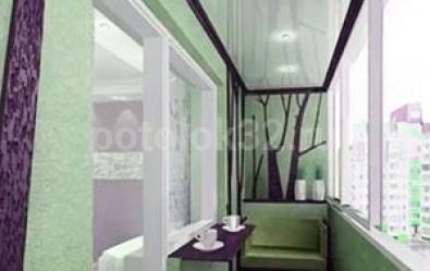 Натяжной потолок на балконе - статьи студии Потолок32