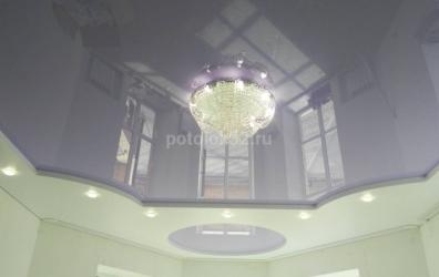 двухуровневый потолок для гостиной - работы студии Потолок32