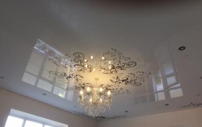 фотопечать на потолке узоры на глянцевом - работы студии Потолок32