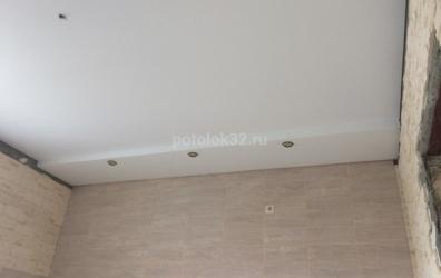 бесщелевой двухуровневый потолок на кухне - работы студии Потолок32