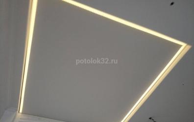 потолок с контурной подсветкой - работы студии Потолок32