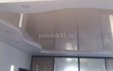 бесщелевой двухуровневый натяжной потолок - работы студии Потолок32