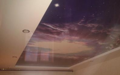 """Фотопечать """"Космос"""" на потолке - работы студии Потолок32"""