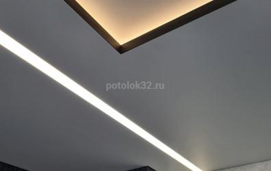 подсветка на натяжном потолке - работы студии Потолок32