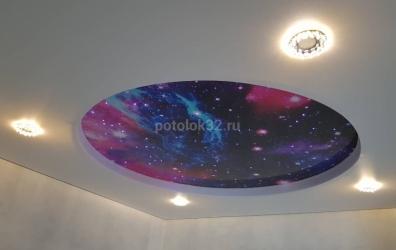 Натяжной потолок Звездное небо - работы студии Потолок32