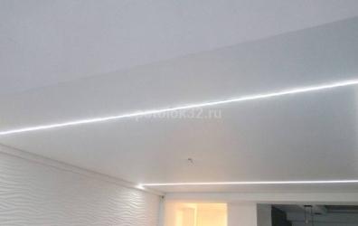 световые линии натяжной потолок - работы студии Потолок32