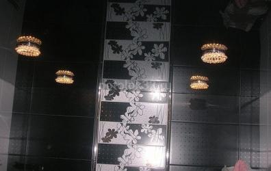 Черный глянцевый потолок - работы студии Потолок32