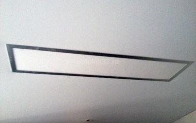 Монтаж в натяжной потолок нестандартного светильника прямоугольной формы - работы студии Потолок32