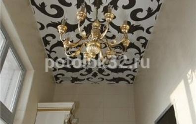 Художественный потолок с узорами - работы студии Потолок32