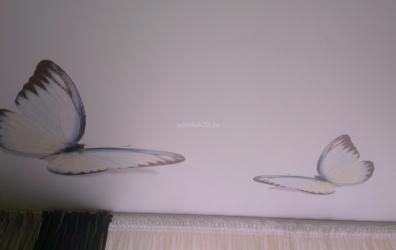 Фотопечать на сатиновом потолке - работы студии Потолок32