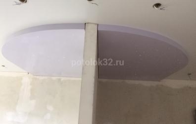 Оптоволокно на глянцевом натяжном потолке - работы студии Потолок32